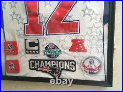 2008 Tom Brady Pro Bowl jersey display with case New England Patriots Buccaneers