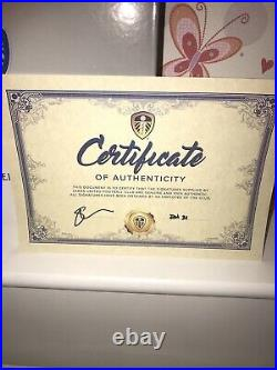 2021 Signed Leeds United Shirt Inc. Certificate Of Authenticity & Display Case