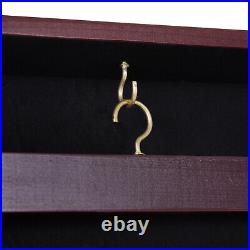 35 x 26 UV-Resistant Sports Jersey Frame Display Case Cherry Brown