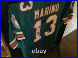 Autographed Miami Dolphins Dan Marino Jersey & Display Case