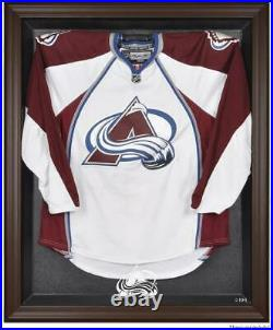 Colorado Avalanche Brown Framed Logo Jersey Display Case Fanatics Authentic
