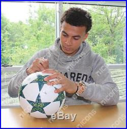 Dele Alli Signed 2016-17 UEFA Champions League Football In Acrylic Display Case