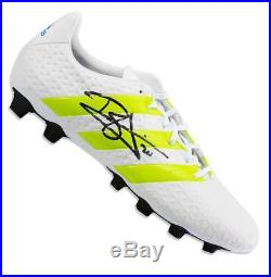 Dele Alli Signed White and Green Adidas X 16.4 Boot In Acrylic Display Case