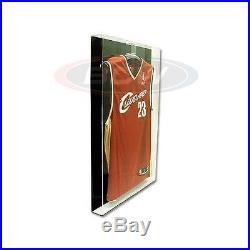 Deluxe Acrylic Small Jersey Display Glass Frame Cabinet Case with Black Back NEW