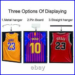 Jersey Display Case, Jersey Frame Large Shadow Box Lockable with 98% UV Black