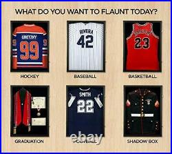 Jersey Display Frame Case Large Frames Shadow Box Lockable with UV Protection Ac