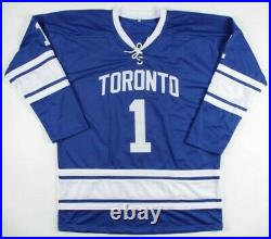 Johnny Bower Signed Jersey With Display Case, Inscribed HOF 76 (Beckett COA)