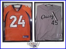 Lot of 2 Jersey Display Case Frame with Hanger White Backing UV Protect GameDay