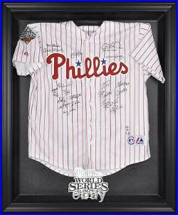 MLB Phillies 2008 World Series Champs Blk Framed Logo Jersey Display Case