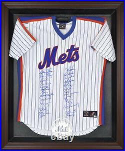 Mets Brown Framed Logo Jersey Display Case Fanatics Authentic