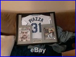 Mike Piazza Autographed Mets Jersey With Custom Display Case