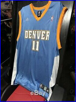 NBA Jersey Signed Chris Birdman Andersen Nuggets Sz L Display Case Not Included