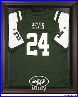 New York Jets Brown Framed Logo Jersey Display Case Fanatics Authentic