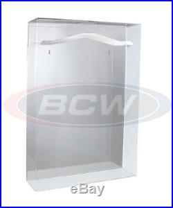 One (1) BCW Deluxe Acrylic Small Jersey Display Holder Case with Mirror Back