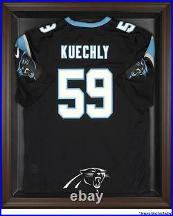 Panthers Framed Logo Jersey Display Case Brown Fanatics Authentic