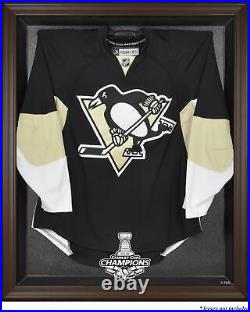 Penguins 2016 Stanley Cup Champions Brown Framed Jersey Display Case Fanatics