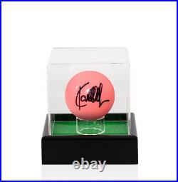 Ronnie O'Sullivan Signed Pink Snooker Ball With Acrylic Display Case