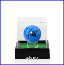 Ronnie O'Sullivan Signed Snooker Ball Blue With Acrylic Display Case