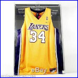 Saftgard Clear Acrylic NBA Basketball Jersey Display Case with Black Back AD16