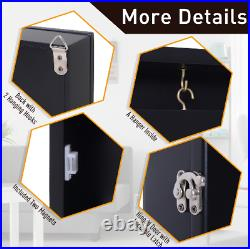 Sport Jersey Display Case Box Frame Acrylic Wall Mounted WithHanger 32x24 Black