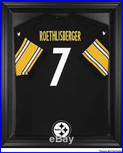 Steelers Jersey Display Case with Black Frame 42 x 34 1/2 3 1/2 Open Box