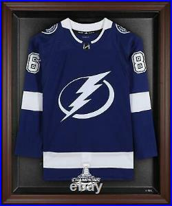 Tampa Bay Lightning 2020 Stanley Cup Champions Brown Framed Jersey Display Case