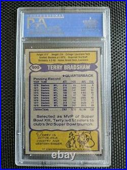 Terry Bradshaw Autographed Jersey & Topps Card in Display Case