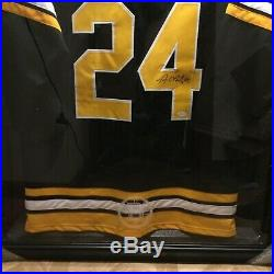 Terry O'Reilly Boston Bruins Autographed Custom Jersey + B's Jersey Display Case