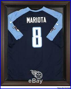 Titans Brown Framed Logo Jersey Display Case Fanatics Authentic